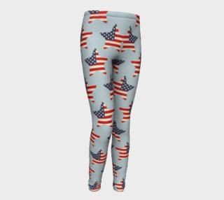 USA Flag Stars Patriotic Kid Leggings preview