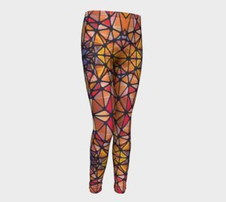Amber Kaleidoscope Youth Leggings preview
