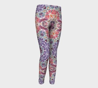 Purple and Pink Kaleidoscope Youth Leggings preview