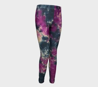 Blue Purple Scrunch Youth Leggings preview