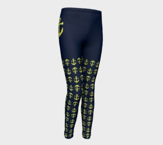 Anchor Legs and Hip - Yellow on Navy preview
