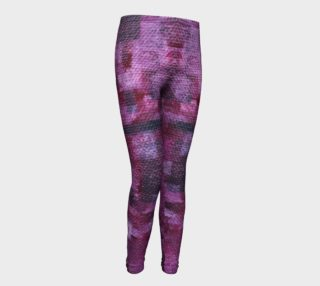 Pink Mosaic Youth Leggings aperçu