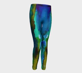 Nature Watercolor Youth Leggings preview