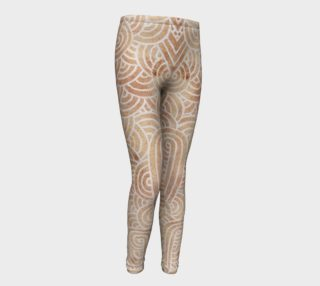 Iced coffee and white swirls doodles Youth Leggings aperçu