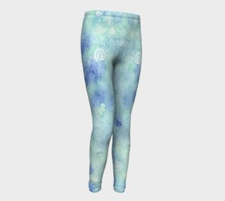 Blue lagoon Youth Leggings preview