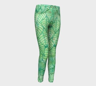 Green foliage Youth Leggings preview