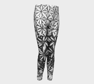 Ombre Flower of Life Girls Sacred Geometry Leggings preview