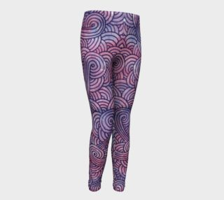 Purple swirls doodles Youth Leggings preview