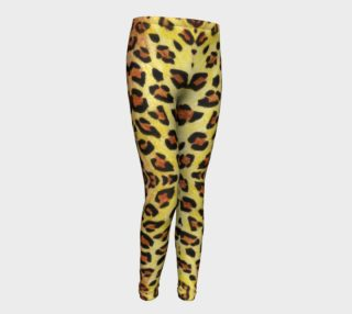 Leopard fur Youth Leggings preview