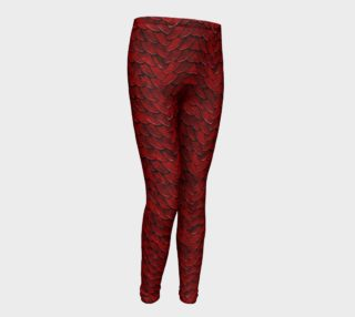 Red Dragon Scales Youth Leggings preview