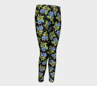 Blueberry Sprig Youth Leggings preview