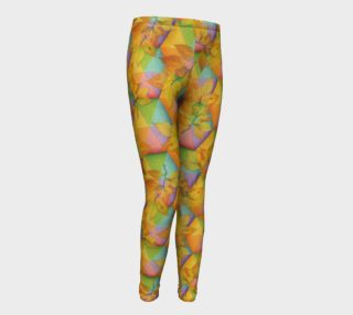 Rainbow Hexagon Leaves Youth Leggings preview