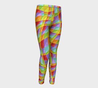 Rainbow Plaid Youth Leggings preview