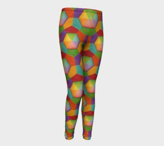 Candy Rainbow Hexagons Youth Leggings preview