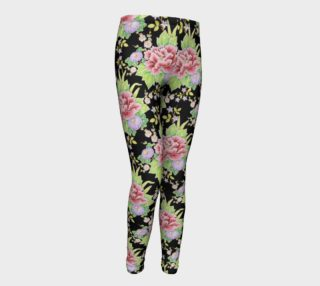 Kimono Bouquet Youth Leggings aperçu