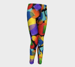 Candy Rainbow Geometric Youth Leggings preview