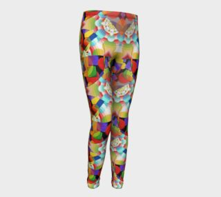 Prismatic Geometric Youth Leggings preview