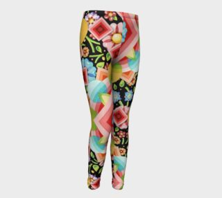 Groovy Chintz Youth Leggings preview