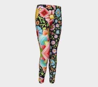 Groovy Chintz Mix Youth Leggings preview