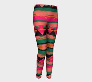 Girls Pink/Green Tribal Leggings preview