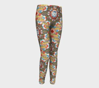 Aperçu de Heraldic Lovebird Youth Leggings