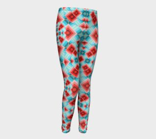 Groovy Chintz Youth Leggings small print preview