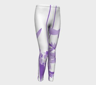 Purple Lines of  Passion Youth Leggings preview