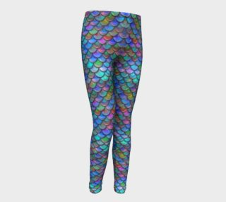 Blue Mermaid Youth Leggings preview