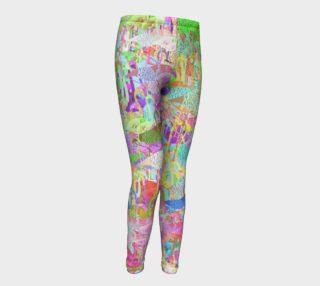 Flamingo Mania Girls Leggings preview