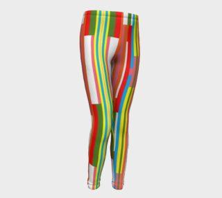 Super Striped Girls Leggings preview