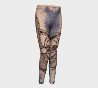 Watercolor Batik Dragonfly Girls Leggings preview