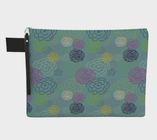 Aqua Flower Blooms Carry-All Pouch preview