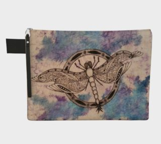 Watercolor Batik Dragonfly Carry All preview