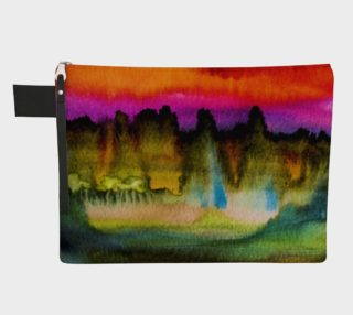 Dramatic Watercolor Zipper Case preview