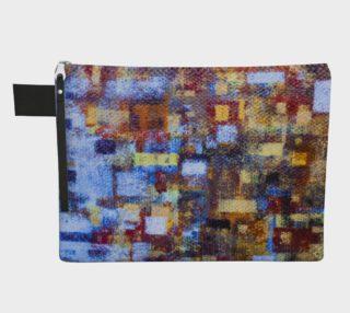 Blue Mosaic Zipper CarryAll preview