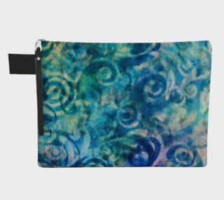 Blue Swirl Zipper CarryAll preview