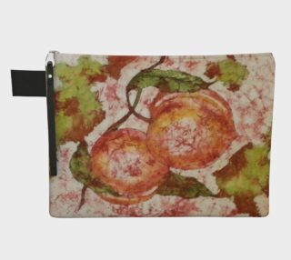 Really Love Your Peaches Watercolor Batik Carry All preview