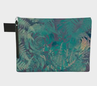 Flowers green  zipper carry all preview