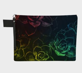 Flowers  black zipper carry all preview