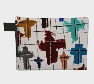 Colored Cross Zipper Carry-all Bag preview