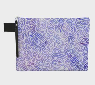 Lavender and white swirls doodles Zipper Carry All Pouch preview