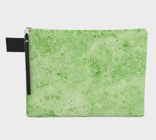 Greenery and white swirls doodles Zipper Carry All Pouch preview