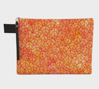 Autumn foliage watercolor Zipper Carry All Pouch preview
