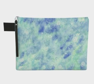 Blue lagoon watercolor Zipper Carry All Pouch preview