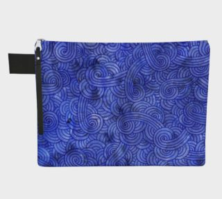 Royal blue swirls doodles Zipper Carry All Pouch preview
