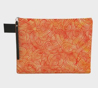 Orange and red swirls doodles Zipper Carry All pouch preview