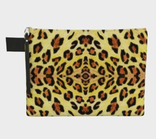 Leopard print Zipper Carry All Pouch preview