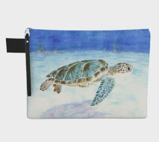 Sea turtle underwater Zipper Carry All Pouch preview