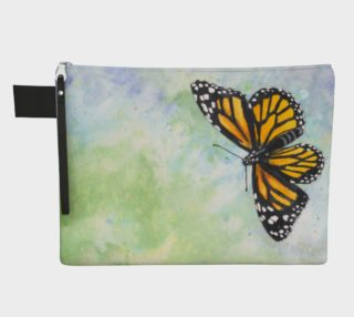 Monarch butterfly Zipper Carry All Pouch preview