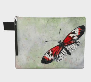 Piano key butterfly Zipper Carry All Pouch preview